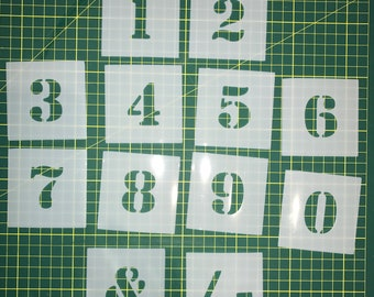 number stencil individual pcs 0 9 40mm up to 200mm 15 787 high free post to australia