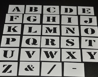 alphabet stencil individual letters a z 40mm up to 200mm high 15 787 free post to australia