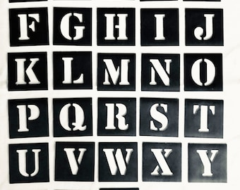 magnetic letter stencil individual a z 40mm up to 200mm high free post to australia