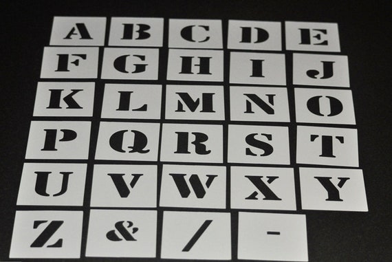 Alphabet Stencil Individual Letters A Z 40mm Up To 200mm Etsy