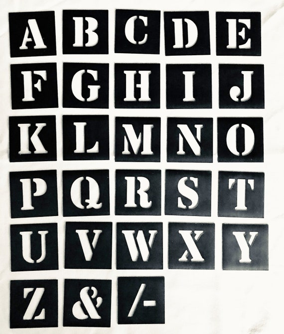 Free Post MAGNETIC Number Stencil Individual   40mm up to 200mm