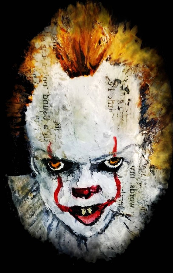 Pennywise It Horror Movie Clock Horror Collection Wall Art Creepy Clowns