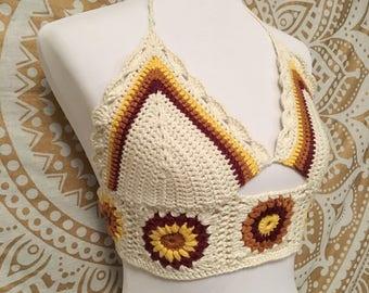 502bd31de0a2ca Sunflower Crochet Top