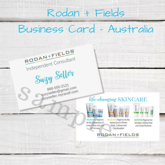 Australia rodan and fields business card australia basic etsy image 0 reheart Image collections