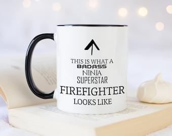 Official FDNY Mug 11oz Red New York Fire Department Coffee Mug