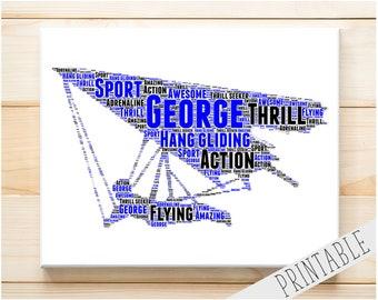 Hang glider art | Etsy