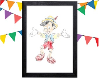 Pinocchio art etsy personalised word art gift pinocchio gift real boy gift puppet gift pinocchio wall prints wall art wall decor gift wall art prints maxwellsz