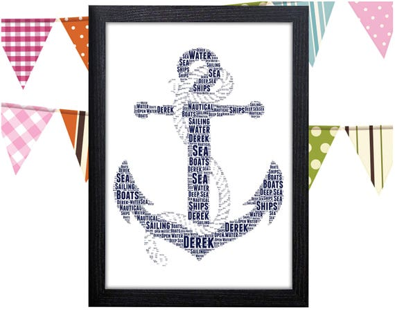graphic about Printable Anchor identify Individualized PRINTABLE Anchor Term Artwork Present Nautical Concept Items Sailor Items Wall Artwork Wall Prints Wall Artwork Electronic Obtain Prints