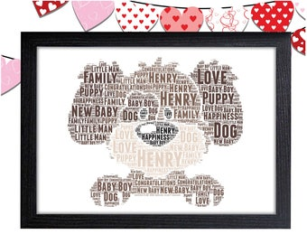 Personalized Gift Puppy Gift For Girl Gift For Boy Dog Gift Wall Art Wall Prints Wall Art Wall Decor Personalised Gift Wall Art Prints