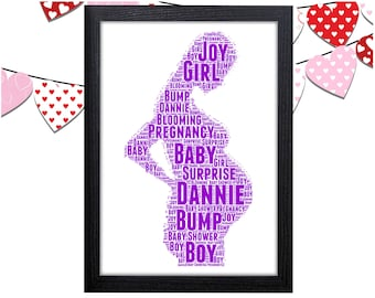 Personalized Gift Pregnancy Gift For Baby Shower Gift New Baby Gifts Wall Prints Wall Art Wall Decor Personalised Gift Wall Art Prints