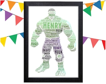 Personalized Gift The Hulk Gift Avengers Wall Art Wall Prints Wall Art Wall Decor The Incredible Hulk Personalised Gift Wall Art Prints Hulk