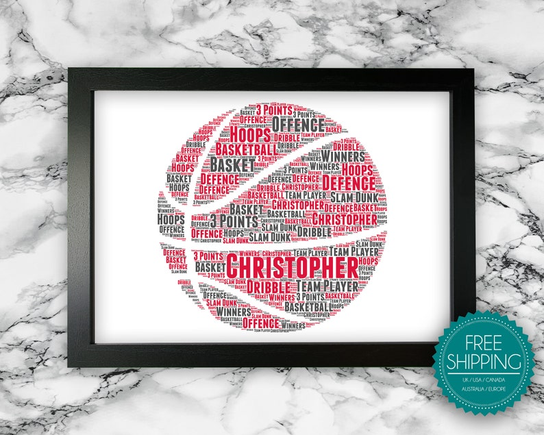 Personalised Basketball Gifts For Basketball Team Player  image 0
