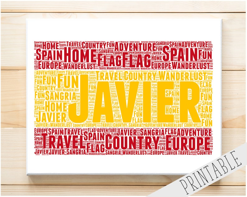 photo about Printable Spanish Flag called Customized PRINTABLE Phrase Artwork Reward Spanish Flag Present Spain Present For Spanish Present Spaniard Wall Prints Wall Artwork Electronic Down load Prints