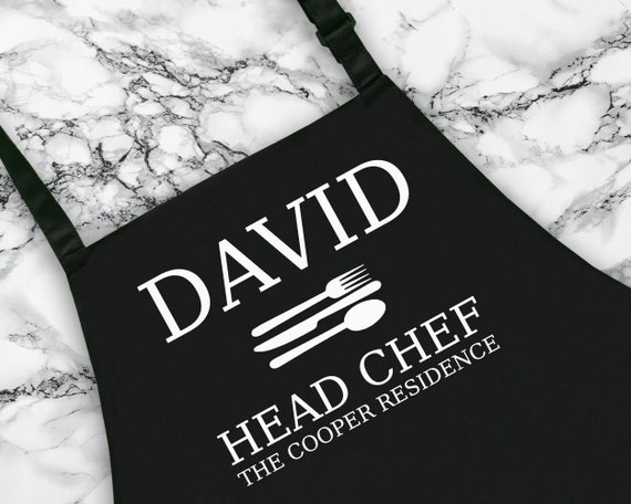 Personalised Dad Head Chef Established Apron.