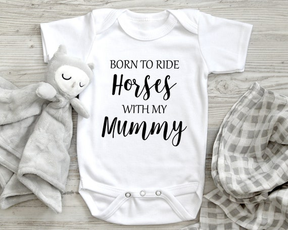 New Baby Vests Bodysuits for Boys Girls Present Born to Go Rugby with My Mummy