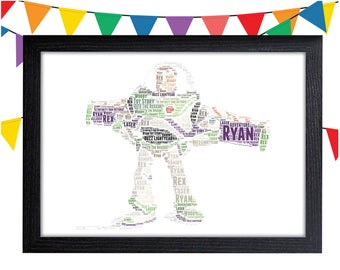 Personalized Gift Buzz Lightyear Gift For Boy Toy Story Gift Wall Prints Wall Art Wall Decor Personalised Gift Wall Art Prints