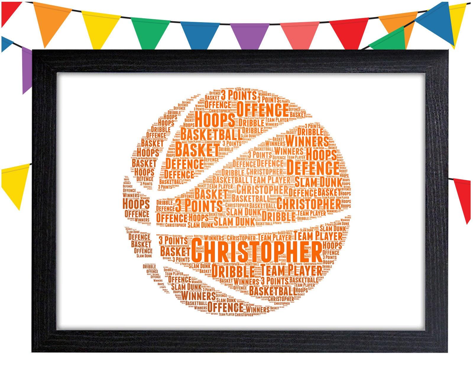 Personalisiertes Geschenk Basketball Geschenk Basketball Wand