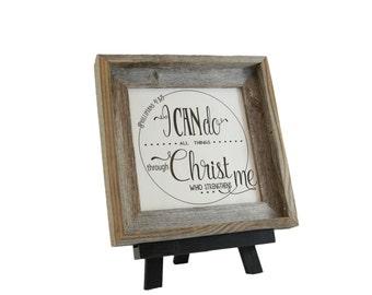 Strength/ Bible Verse Art on Wood/ Christian Gift/ Scripture Art/ Christian Sign/ Encouragement/ I can Do All Things/ Phillipians