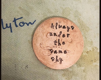 Long Distance Army Wife YOU WILL FOREVER BE MY ALWAYS Vintage Pocket//love Token