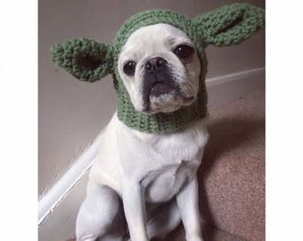 The yoda hat. Star Wars dog hat snood for your doggie. Uk seller. Choose your size  sc 1 st  Etsy : yoda dog costume pug  - Germanpascual.Com