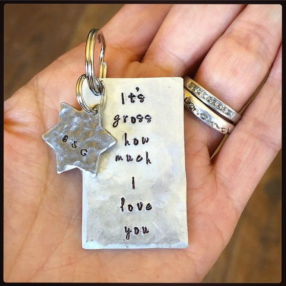 I STEEL DO 11th Wedding Anniversary Hand Stamped Spoon Keychain Gift For Him//Her