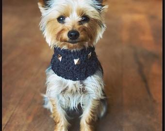 The Rock Dog Studded snood. Neck warmer, scarf. Choose your size. Uk seller. Pug, french bulldog, greyhound, daschund, chihuahua