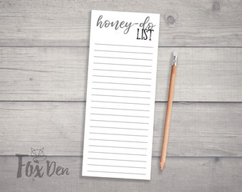 Honey Do List, Notepad, Notepad with Magnet, Funny Notepad, Gifts for Her, Stationery, Small Notepad, Daily To Do List
