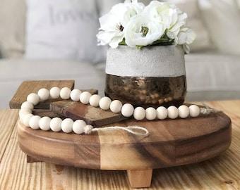 Wooden Bead Garland, Wood Bead Garland, Garland, Wood Beads, Wood Decor, Bead Garland,  Rustic Decor, Rustic Garland, Farmhouse Decor, beads