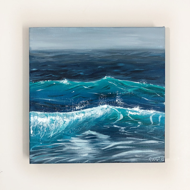 12x12 // Seascape Painting Ocean Water // Acrylic image 0