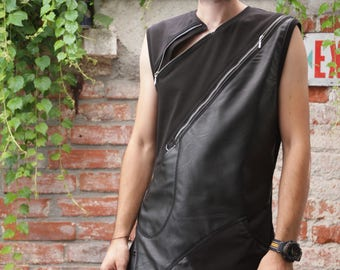 BLACK VEST ZIPPER