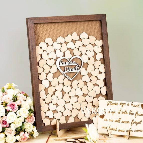 Wooden Guest Book Alternative Guest Book Wedding Reception Etsy
