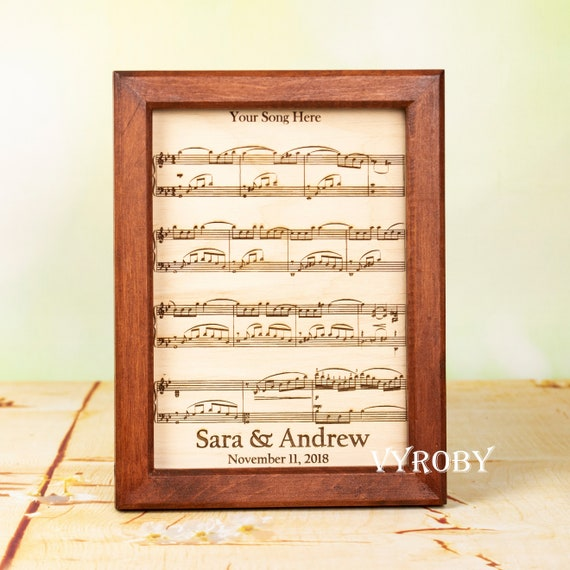 Fifth Wedding Anniversary Gift Ideas For Music Lovers Etsy