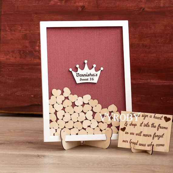 BABY SHOWER Guest Book Wishes Drop Box 80 Heart Cards Guestbook BOY or GIRL