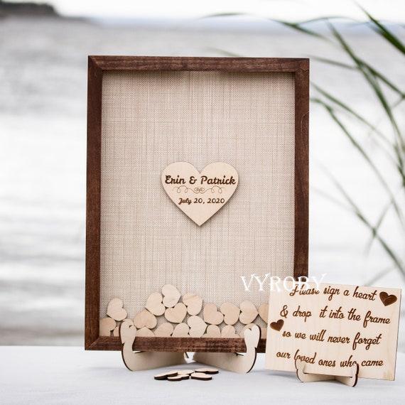 Hearts Guest Book Wedding Guest Book Guest Book Drop Box Personalized Wedding Guest Book Drop Box Wedding Guest Book Alternative