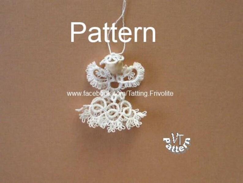 Tatting Pattern Pdf Christmas Angel Diagram And Tutorial