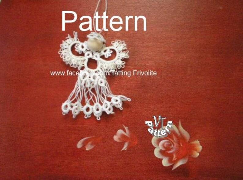Tatting Pattern Christmas Angel Diagram And Tutorial Pdf