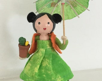 Clothespin doll,golu doll, Bommai, birthday gift,