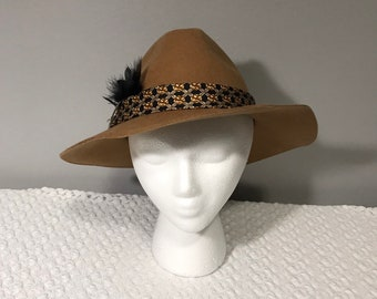 09aab4a6 Camel colored wool fedora