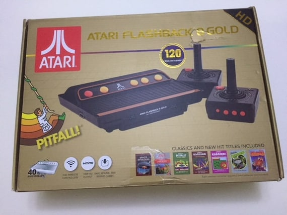 Atari Flashback 8 Gold Hd Video Game System With 120 Built In Games
