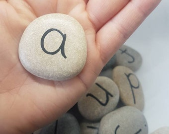 Alphabet Stones/ Story Stones/ Learning/ Alphabet/ School/ Play/ abc/ Montessori/ Waldorf/ Stones