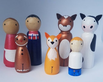 The Gingerbread Man /Peg Dolls /Small World Play / Open Ended Play/ Preschool / Montessori / Waldorf / Wooden Toys / Educational/ Play/ Kids