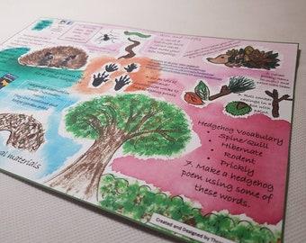 Hedgehog Printable/ Activity Ideas/ Hedgehog/ Fun Facts/ Print/ School/ Learning
