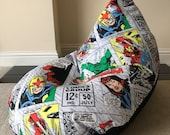 Childs children s kids gaming beanbag bean bag chair Super Hero Retro Marvel Avengers reading gaming