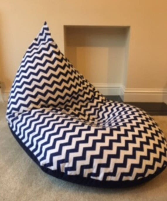 Fine Childrens Kids Chevron Navy Beanbag Beanbag Gaming Reading Chair Made To Order Bralicious Painted Fabric Chair Ideas Braliciousco