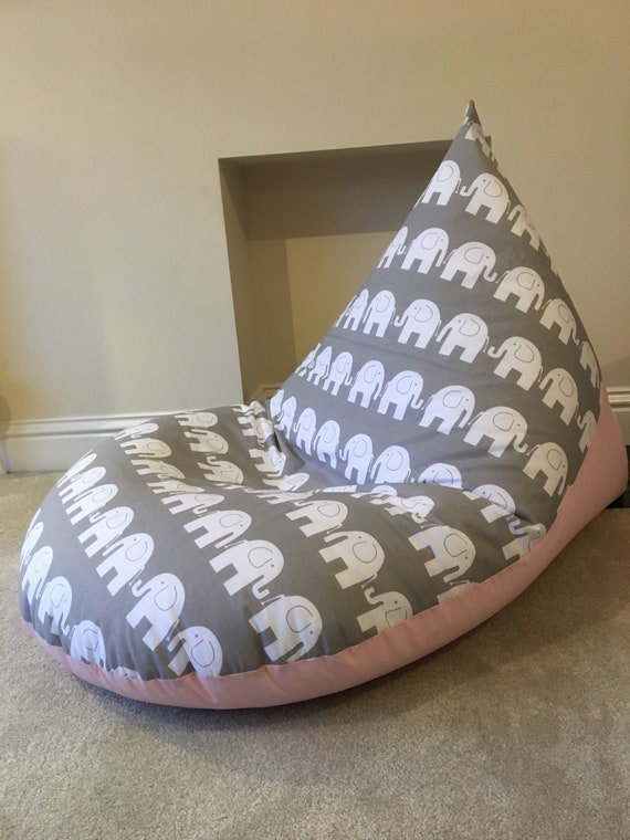 Tremendous Childrens Kids Grey Elephant Beanbag Bean Bag Gaming Reading Chair Made To Order Ibusinesslaw Wood Chair Design Ideas Ibusinesslaworg