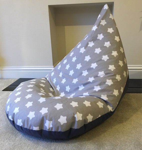 Stupendous Childrens Kids Chunky Star Grey Beanbag Bean Bag Gaming Reading Chair Made To Order Camellatalisay Diy Chair Ideas Camellatalisaycom