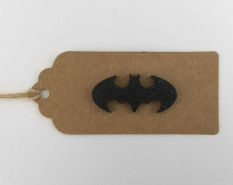 Bespoke kraft gift tag Bat signal (batman)
