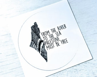From The River To The Sea Free Palestine Small Sticker