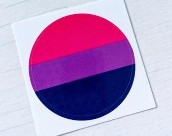 Bi Pride Flag Small Sticker