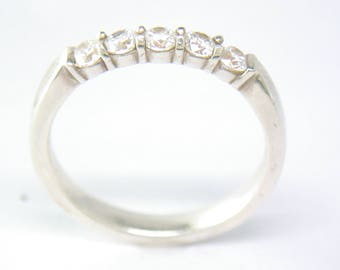 half Eternity Ring in Silver and Cubic Zirconia. John Fox